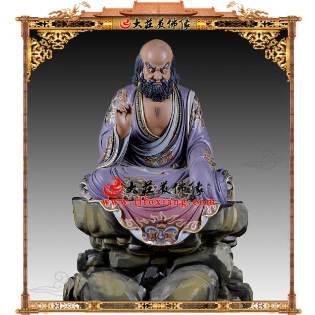 生漆脱胎达摩祖师彩绘佛像【2803】