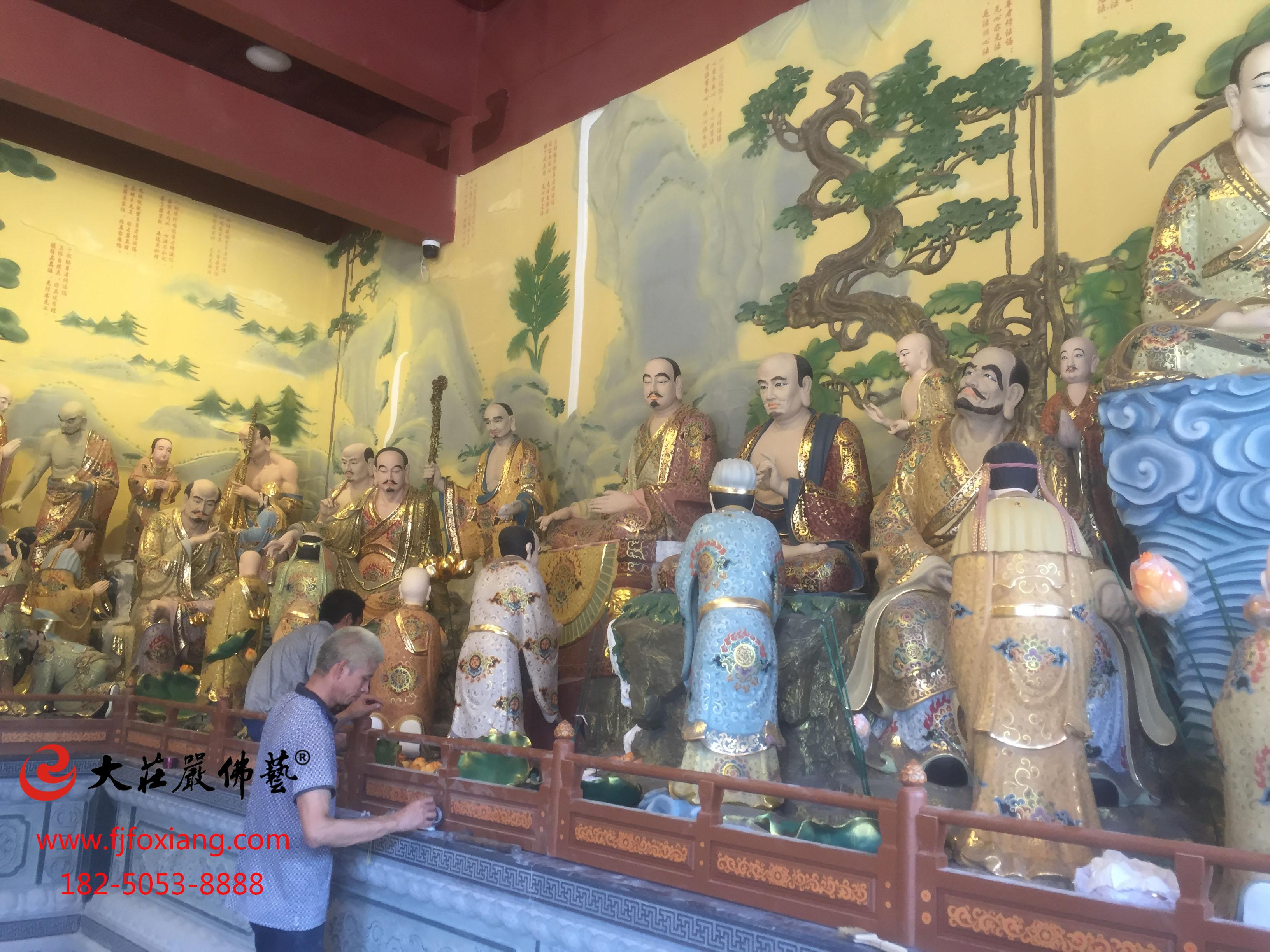 金华脱胎祖师殿全堂佛像之33祖师