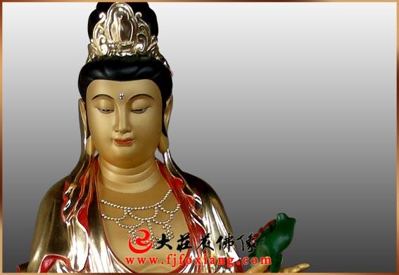 铜雕西方三圣(铜雕大势至)