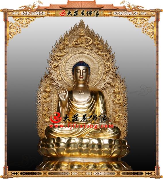 三宝佛之铜雕药师佛