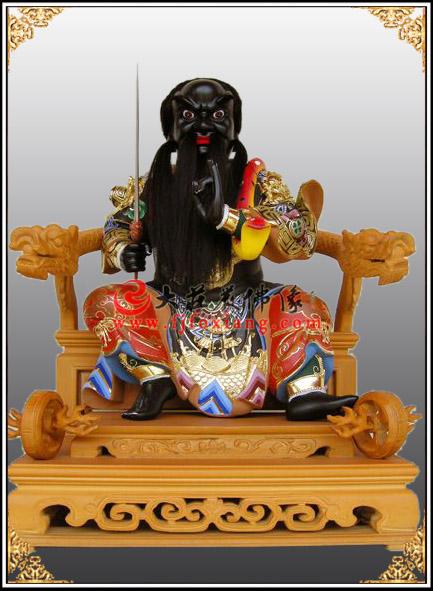 法主公,木雕彩绘