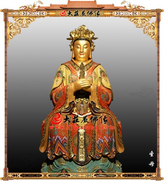 铜雕圣母贴金神像