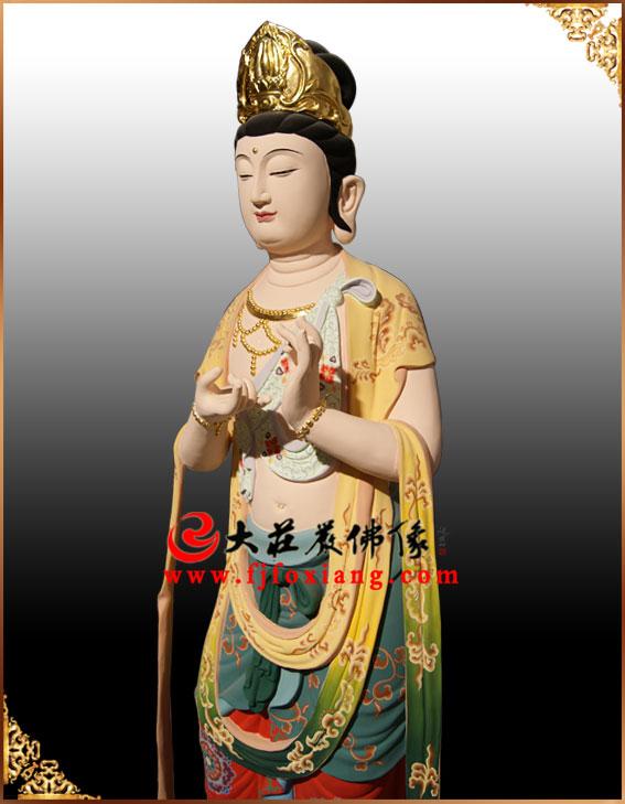 铜雕彩绘西方三圣像