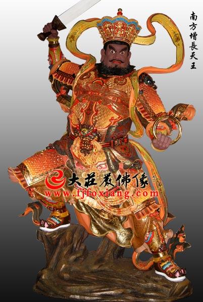 铜雕彩绘四大天王之南方增长天王