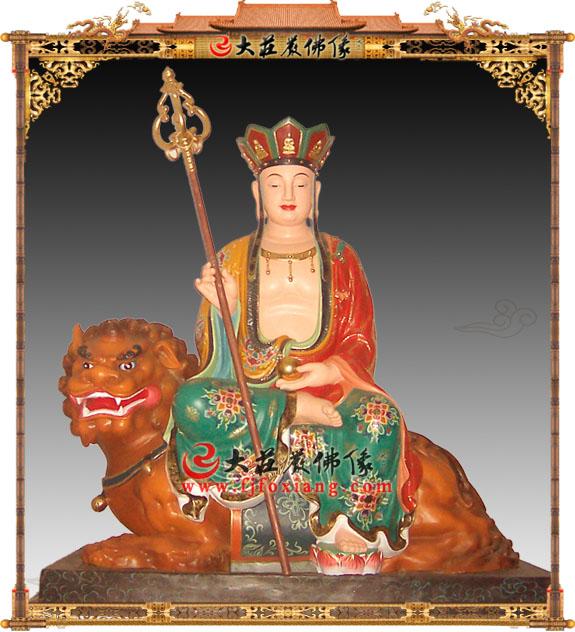 彩绘坐骑地藏王菩萨