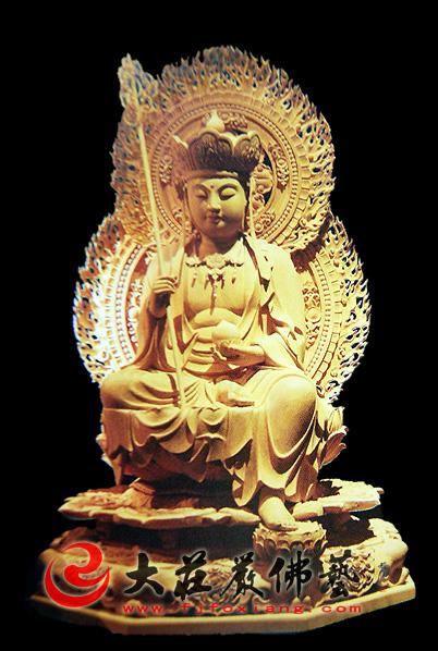 木雕地藏菩萨