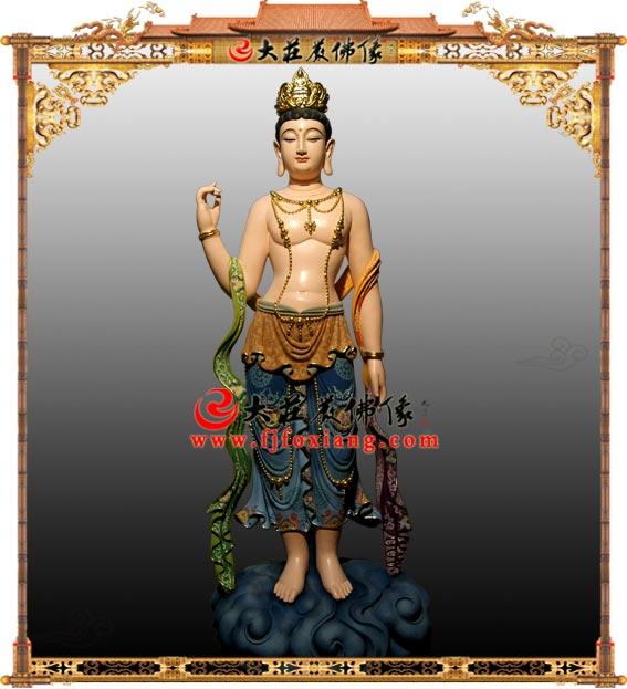 铜雕彩绘印度观音