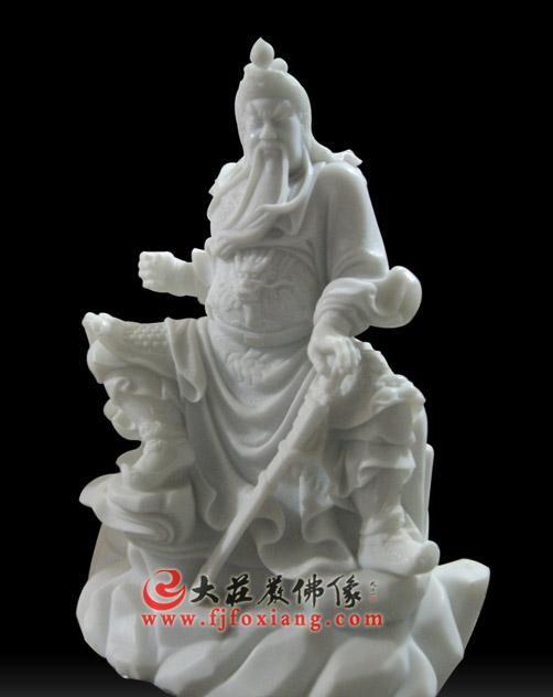 关公汉白玉雕刻神像【2114】