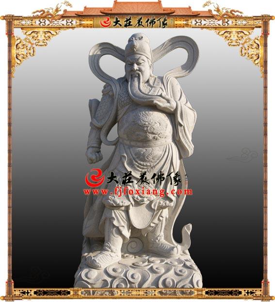 关公石雕伽蓝菩萨佛像【2117】