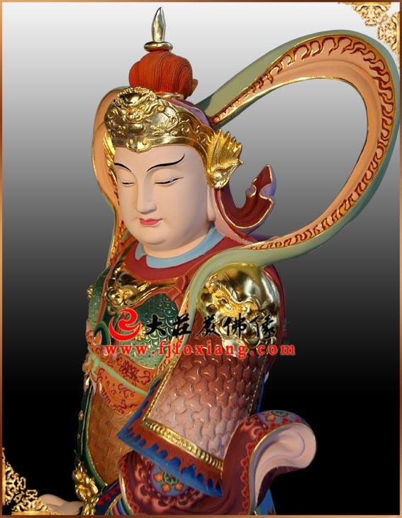 生漆脱胎韦驮菩萨佛像