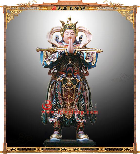彩绘韦陀菩萨像