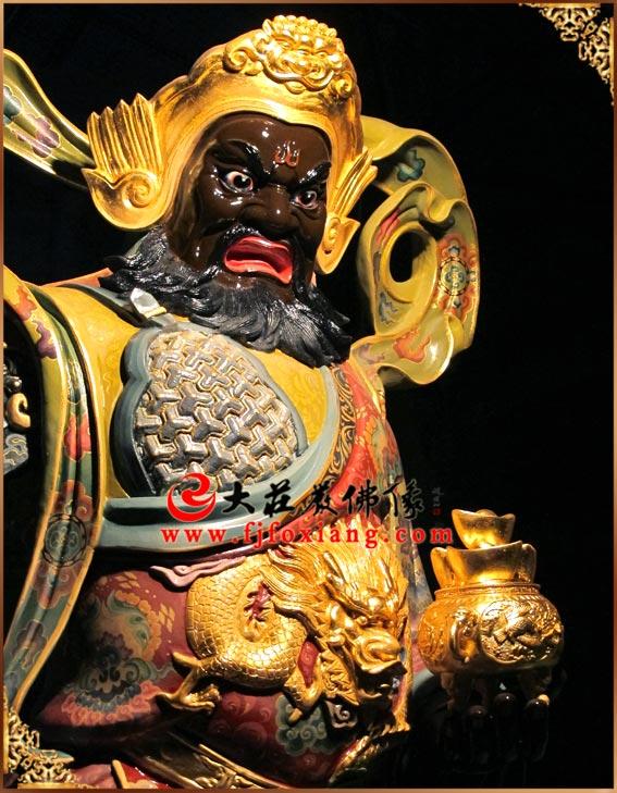铜雕 彩绘赵公明武财神站像