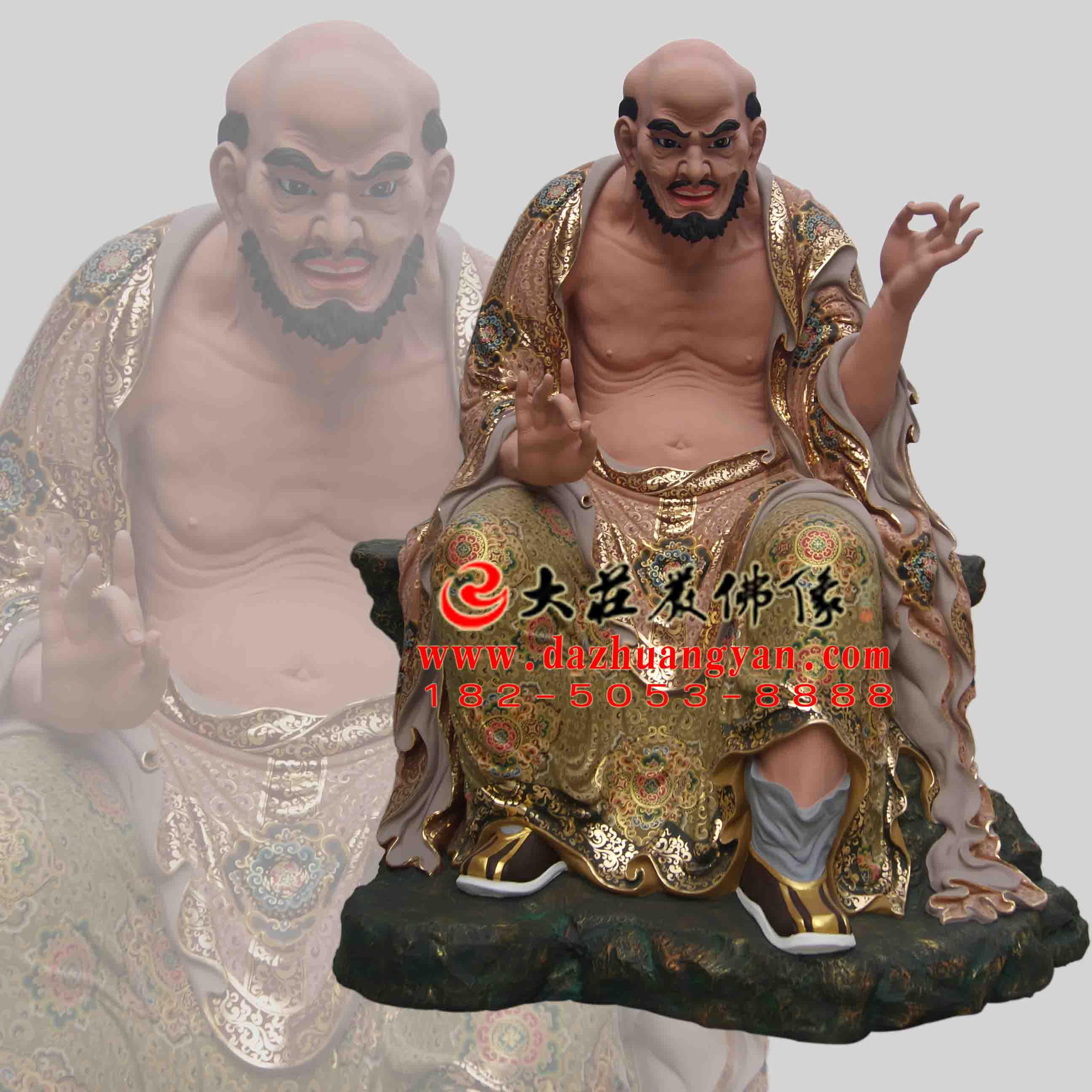 宾头卢尊者生漆脱胎彩绘佛像【201820】