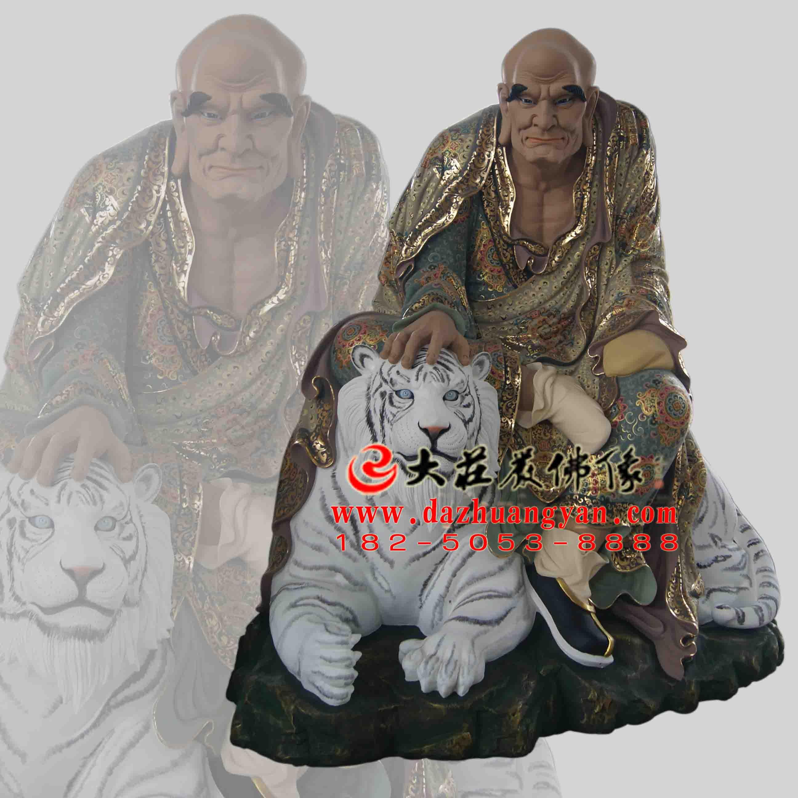 弥勒尊者生漆脱胎彩绘佛像【201823】