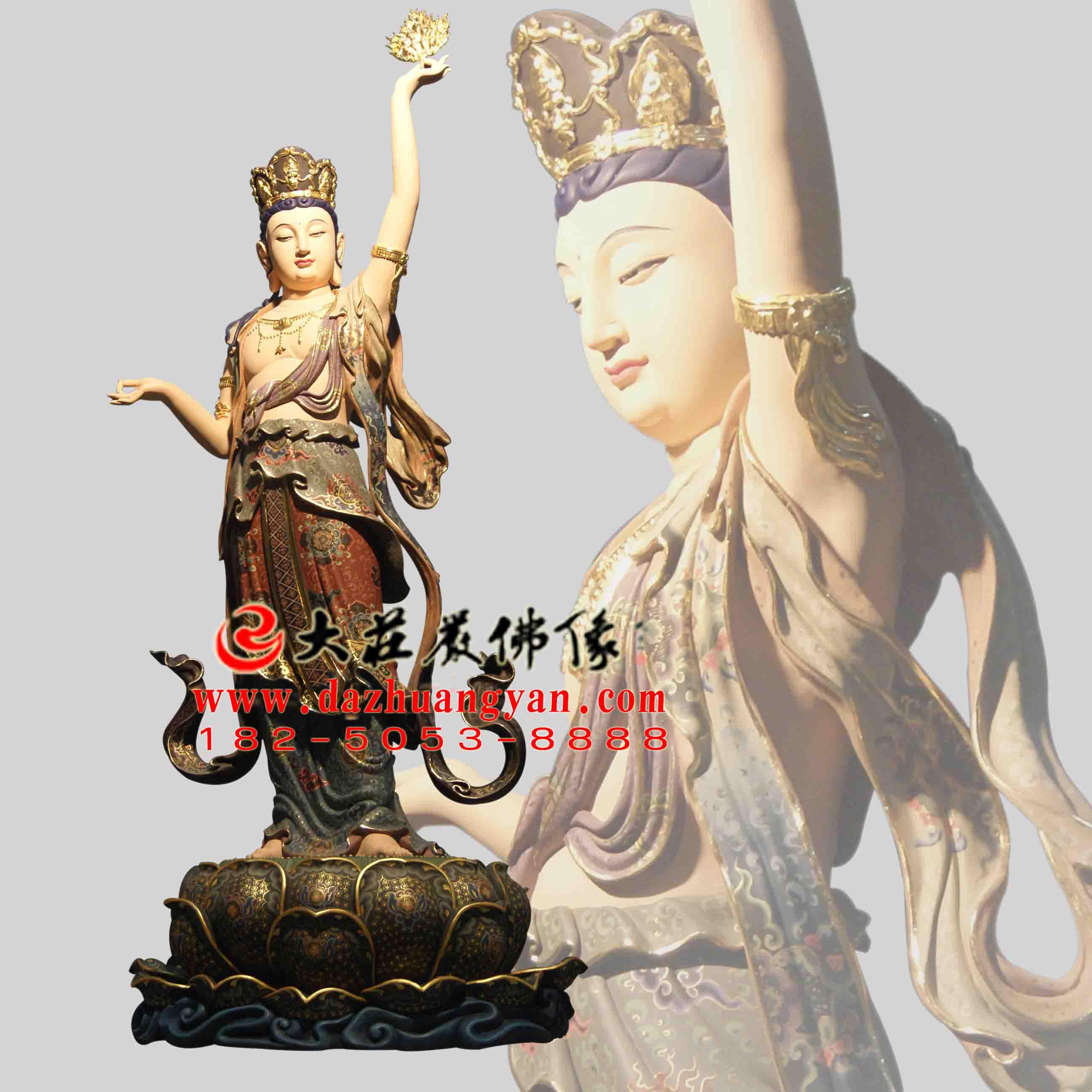 八大菩萨之虚空藏菩萨彩绘佛像【1708】