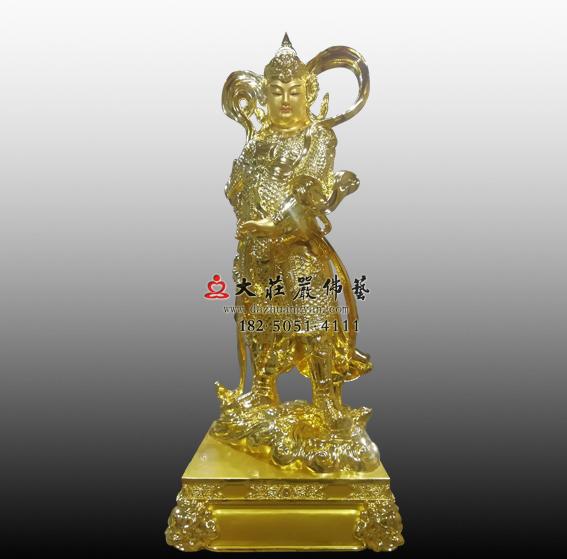 韦驮菩萨贴金佛像