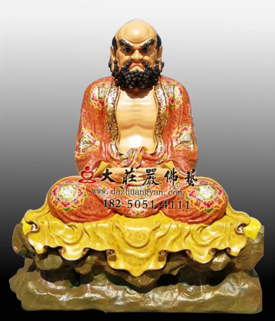 达摩祖师彩绘塑像