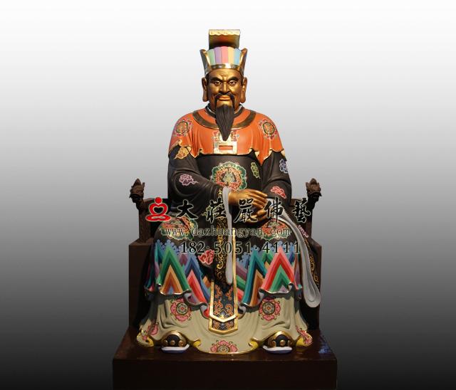 bobapp十殿阎王之五殿阎罗王彩绘塑像
