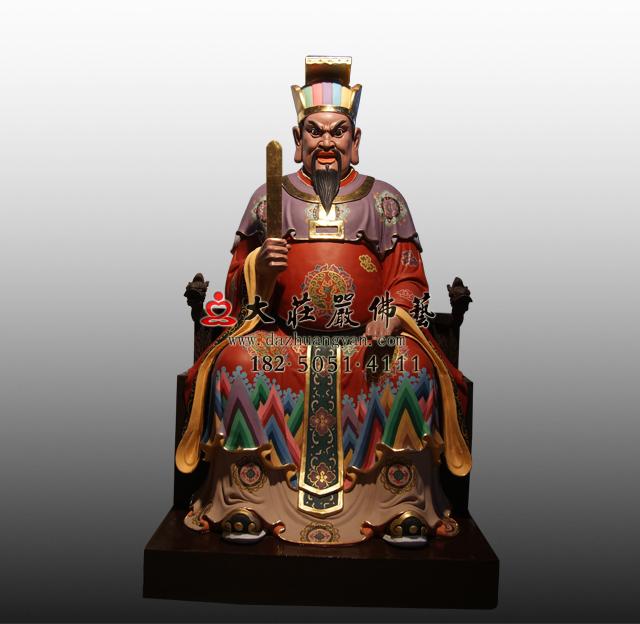 bobapp十殿阎王之九殿平等王彩绘塑像