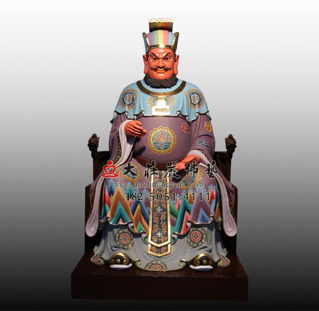 bobapp十殿阎王之十殿转轮王彩绘塑像