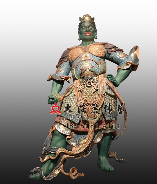 bobapp东方持国天王八大神将之毗舍阇彩绘塑像