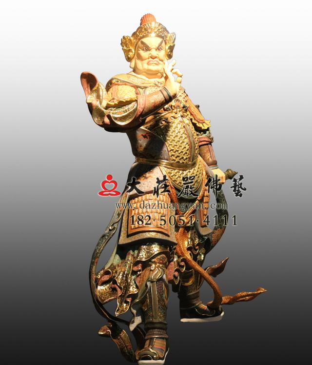 bobapp南方增长天王八大神将之鸠般茶彩绘塑像
