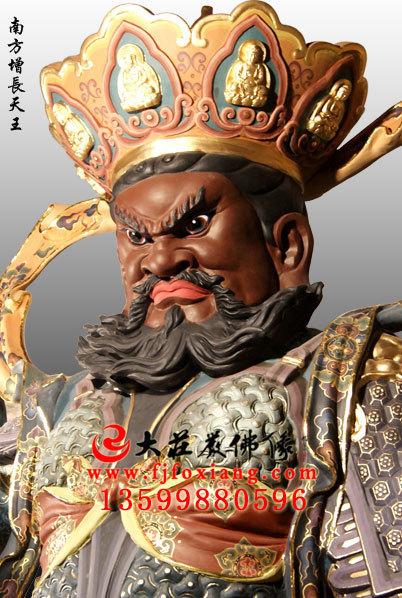 bobapp四大天王之南方增长天王彩绘佛像