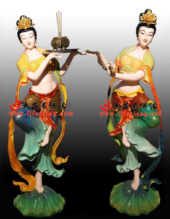 生漆脱胎仙子彩绘神像