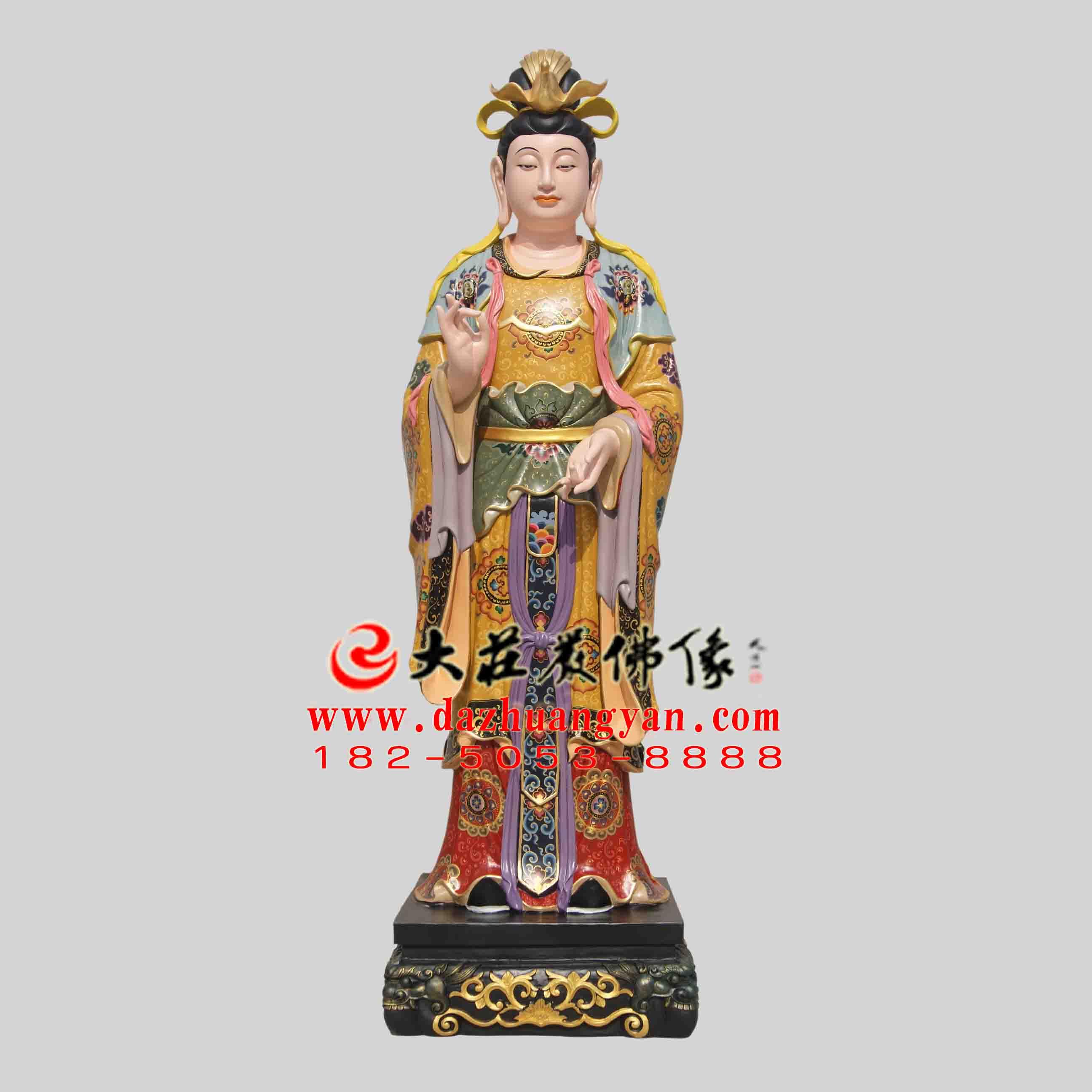 生漆脱胎二十诸天之月宫天子彩绘塑像【2404】