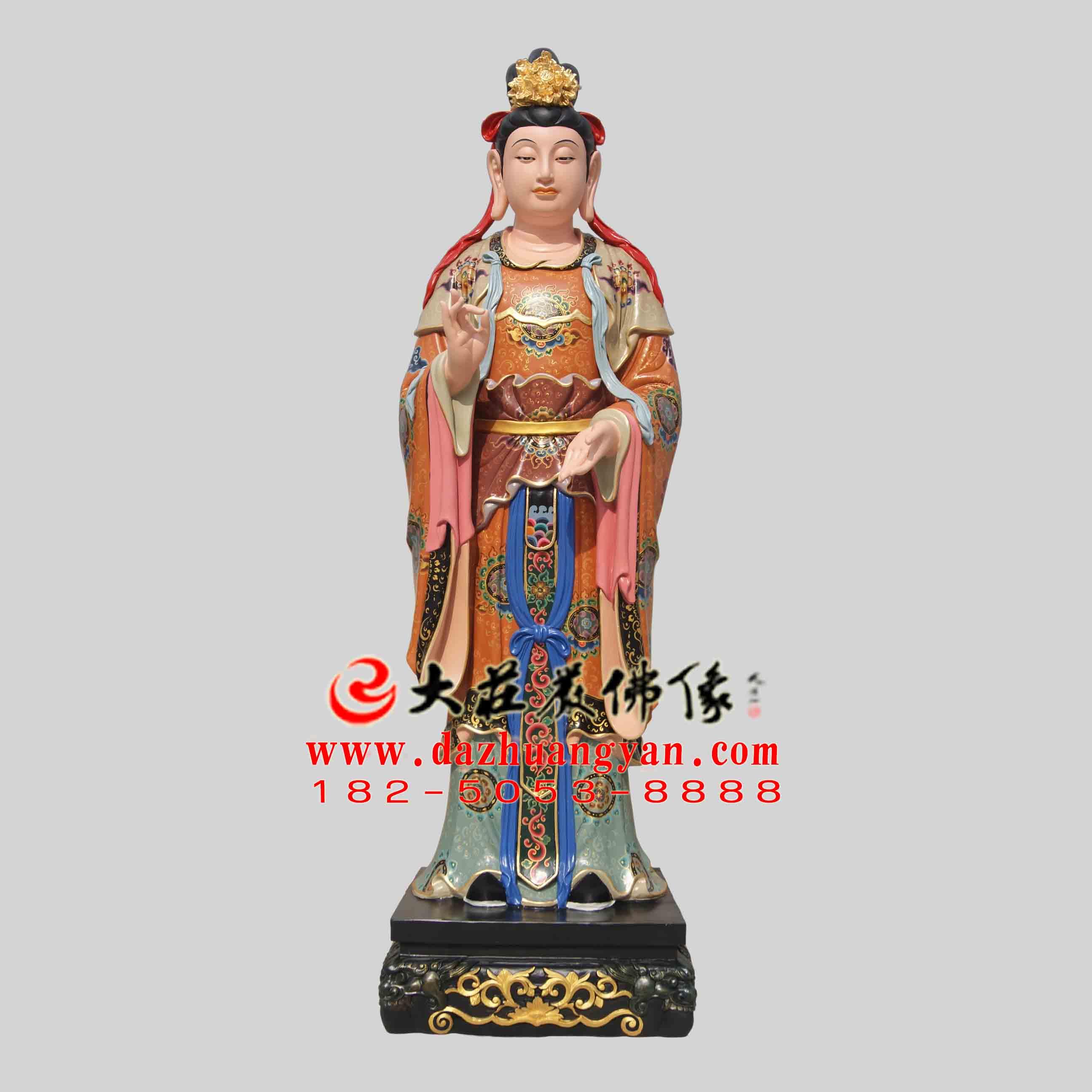 生漆脱胎二十诸天之日宫天子塑像【2405】