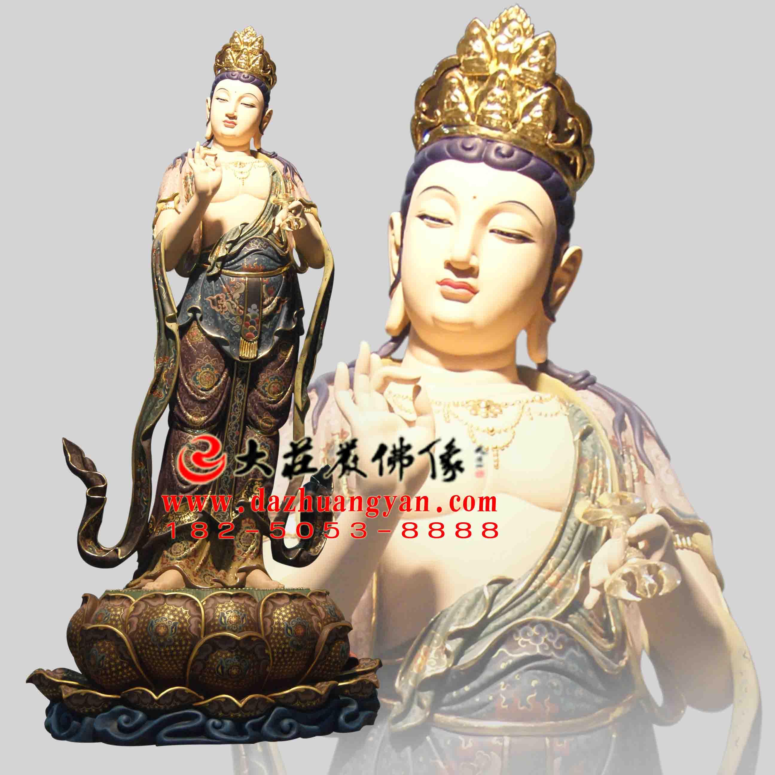 八大菩萨之金刚手菩萨彩绘佛像【1705】